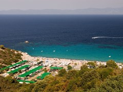 Armenistis camping and beach, Sithonia, Halkidiki, Greece